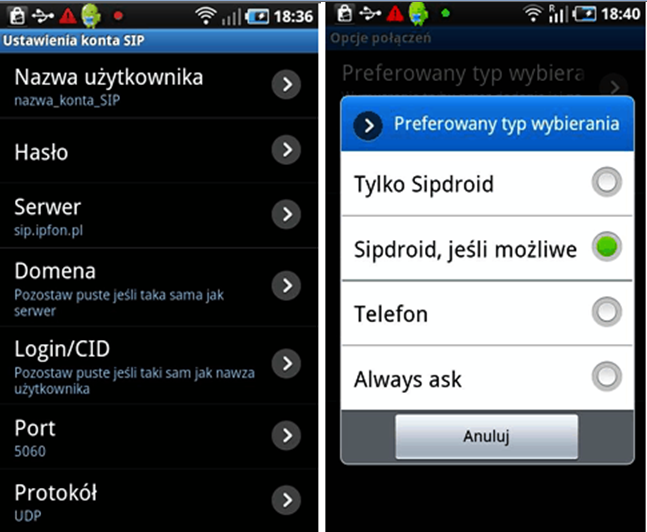 Sipdroid android